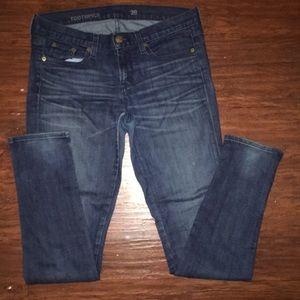 Jcrew toothpick skinny jean with ankle zipper